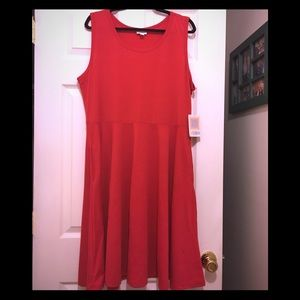 LulaRoe 3X Nicki dress, NWT. Pretty red dress.